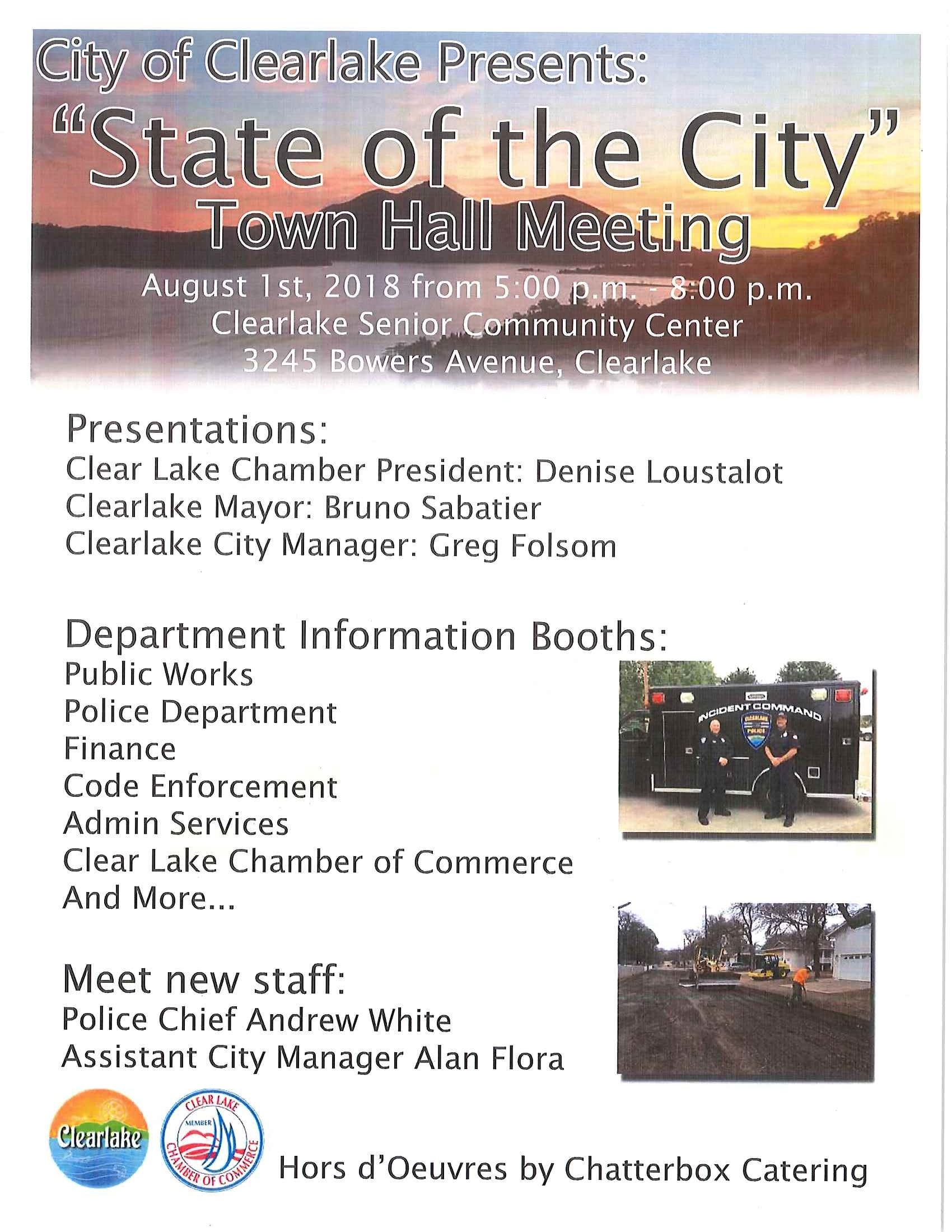 Flier with Information on the State of the City Meeting 2018