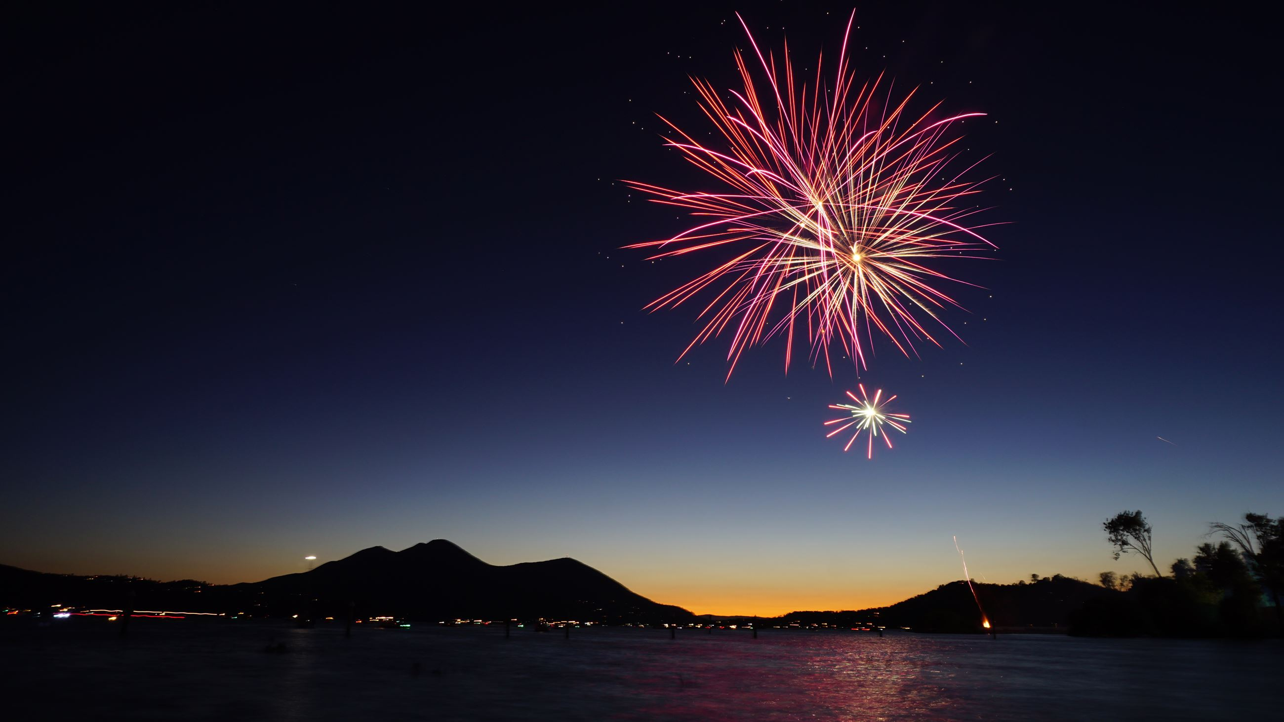 Photo of fireworks over Clearlake