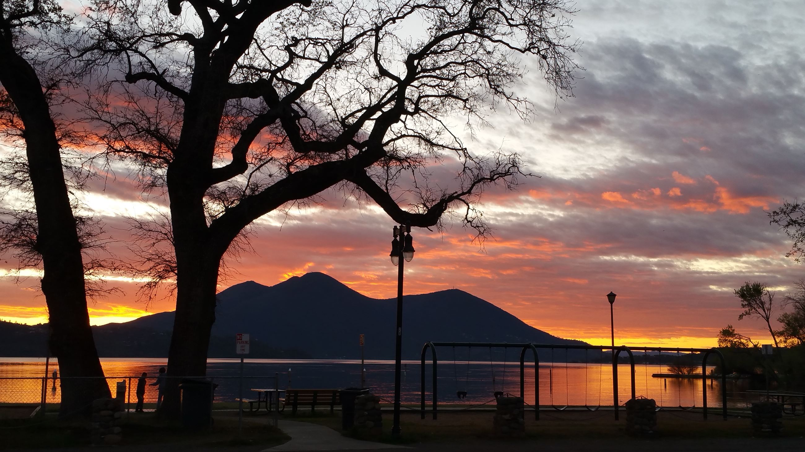 Photo of Austin Park at Sunset with View of Mt. Konocti