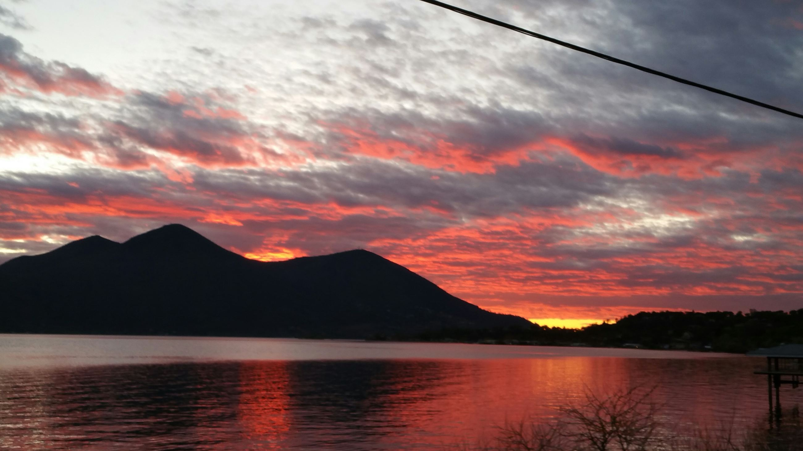 Photo of Clearlake at Sunset with View of Mt. Konocti